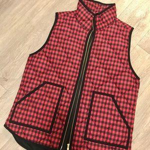 Red and Black JCrew Vest